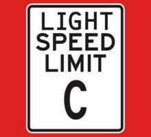 Light Speed Limit Sign One Piece - Long Sleeve
