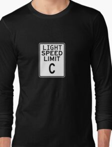 Light Speed Limit Sign Long Sleeve T-Shirt