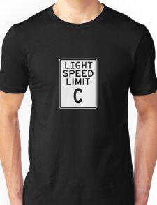 Light Speed Limit Sign Unisex T-Shirt