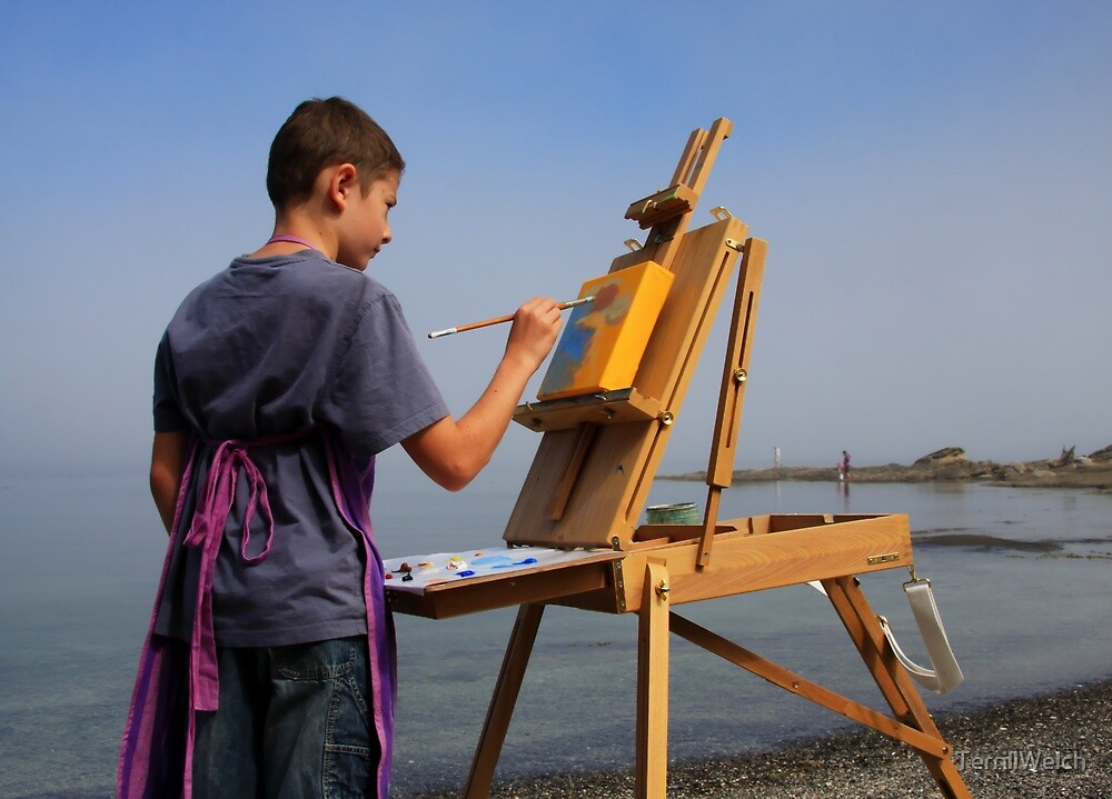 young artist en plein air by TerrillWelch