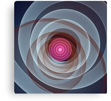 Swirling Circles and Spirographic lines Canvas Print
