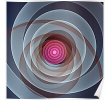 Swirling Circles and Spirographic lines Poster