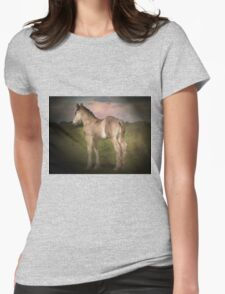 Ponytail Womens Fitted T-Shirt