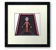 Rick and Morty-- Jailed Rick Framed Print