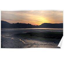 Golden sunset - Inlet park, Port Moody Poster