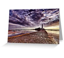 St Mary's Lighthouse HDR Greeting Card
