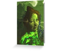 Solitude of Protection -Green version Greeting Card