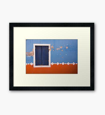 If A Window Shutter Could Talk Framed Print