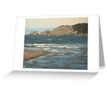 River Meets the Sea Greeting Card