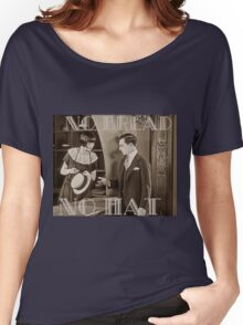 """No Bread No Hat"" Silent Film-era Buster Keaton Women's Relaxed Fit T-Shirt"