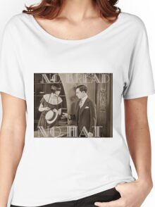 """""""No Bread No Hat"""" Silent Film-era Buster Keaton Women's Relaxed Fit T-Shirt"""