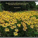 The Glory of the Lord - Floral Vignette by BlueMoonRose