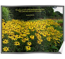 The Glory of the Lord - Floral Vignette Poster