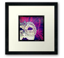 Mystery Of A Mask Framed Print