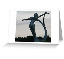 Motorway Sculpture, near Cumbernauld, Scotland Greeting Card