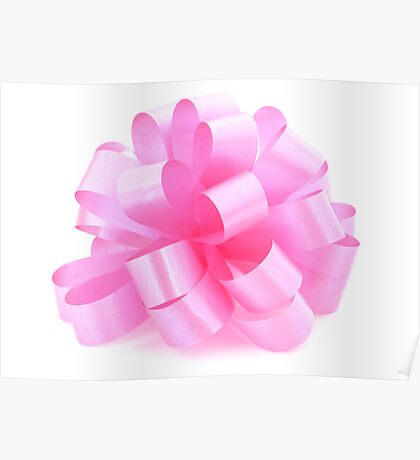 single pink ribbon gift  Poster