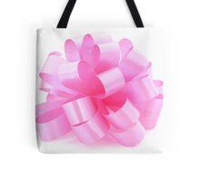 single pink ribbon gift  Tote Bag