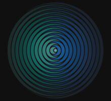 Spiky Circle Pattern - Blue and Green by joshdbb