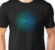 Spiky Circle Pattern - Blue and Green Unisex T-Shirt