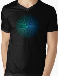 Spiky Circle Pattern - Blue and Green Mens V-Neck T-Shirt