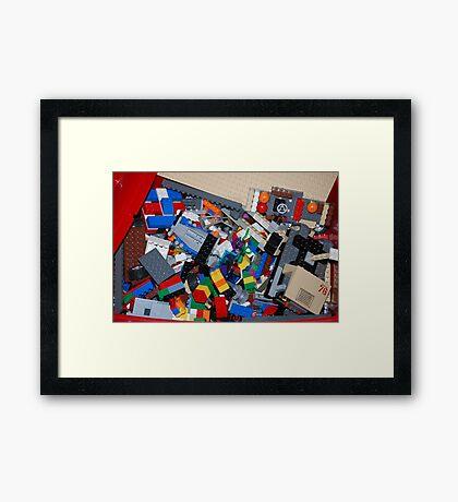 Eggo my Legos Framed Print