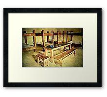 Back to the Barracks Framed Print