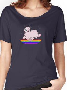 Pink Fluffy Unicorns Dancing on Rainbows Feat. Flufflepuff Women's Relaxed Fit T-Shirt