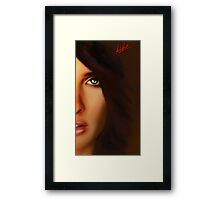 the mirror of the soul Framed Print