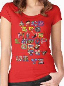 Saturday Morning Cartoons! Women's Fitted Scoop T-Shirt
