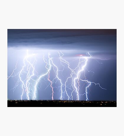 Electric Lightning Sky Photographic Print