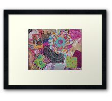 Colorful Collage Framed Print