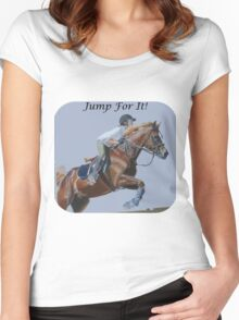 Jump For It! Horse T-Shirt Women's Fitted Scoop T-Shirt