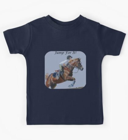 Jump For It! Horse T-Shirt Kids Tee