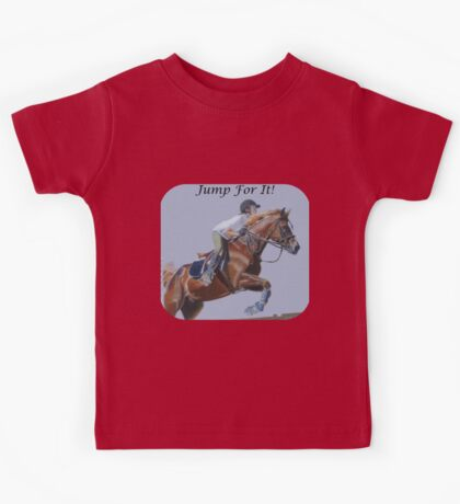Jump For It! Horse T-Shirt Kids Tee