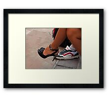 Are we together?  Definitely not! Framed Print