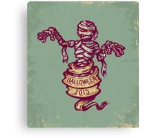 Mummy and old ribbon for Halloween Canvas Print
