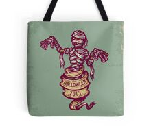 Mummy and old ribbon for Halloween Tote Bag