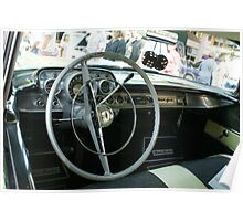 Dashboard View; 1957 Chevy Belair; Whittier, CA USA Poster