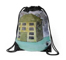 The Old Family Home Drawstring Bag