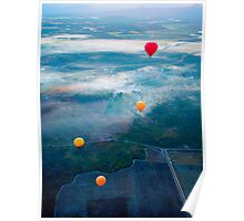 Up Up and Away - hot air ballooning  Poster