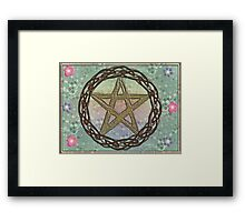Nature's Pentacle of Wood Entwined Framed Print