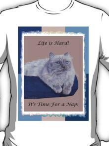 Life is Hard! It's Time For a Nap! Cat T-Shirt T-Shirt