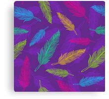 feathers pattern  Canvas Print