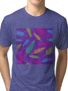 feathers pattern  Tri-blend T-Shirt