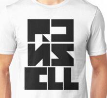 "Custom Graphic Name T-Shirt ""Black on White"" Unisex T-Shirt"