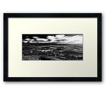 B+W HDR Canberra landscape Framed Print