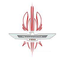 Thunderbird Emblem w Pinstripes Photographic Print