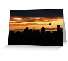 Stormy Sunset over Sydney 2 Greeting Card