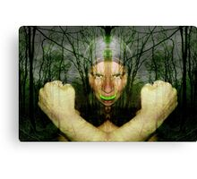 Take A Bite To Stand and Fight Lyme Canvas Print
