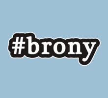 Brony - Hashtag - Black & White by graphix